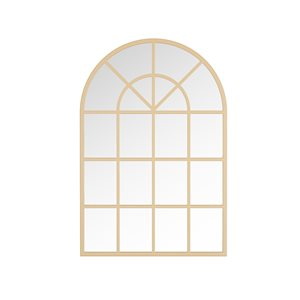 A&E Bath and Shower Mesilla 28-in L x 26-in W Arch Gold Framed Wall Mirror