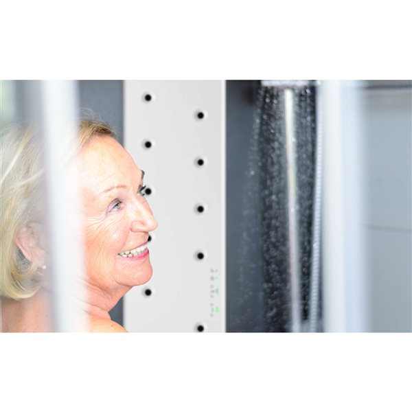 A&E Bath and Shower Valiryo Plastic Matte White  Air Body Dryer