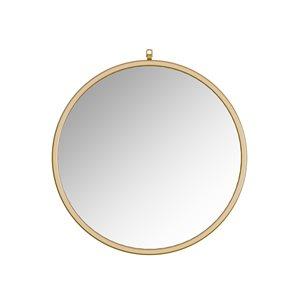 A&E Bath and Shower Haylo 32-in Gold Round Bathroom Mirror
