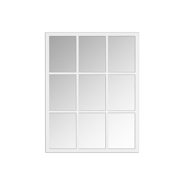 A&E Bath and Shower Trion 28-in L x 26-in W Rectangular Silver Framed Wall Mirror