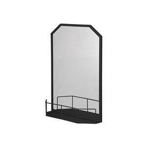 A&E Bath and Shower Anita 26.5-in L x 19.5-in W Rectangular Black Framed Wall Mirror