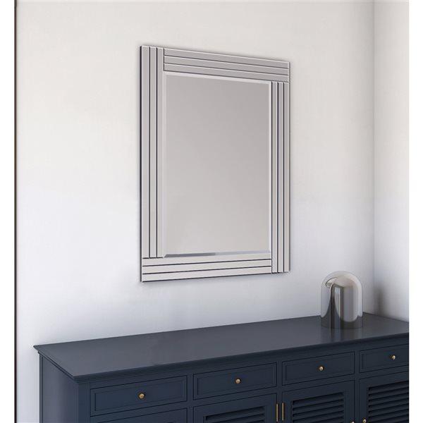 A&E Bath and Shower Waves 30-in Rectangular Bathroom Mirror