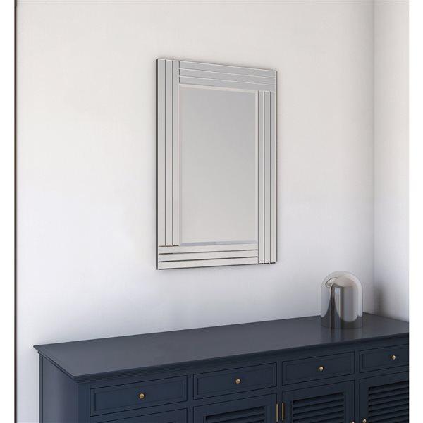 A&E Bath and Shower Waves 24-in Rectangular Bathroom Mirror