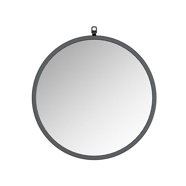 A&E Bath and Shower Haylo 24-in Black Round Bathroom Mirror