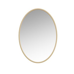 A&E Bath and Shower Sandy 24-in Gold Oval Bathroom Mirror