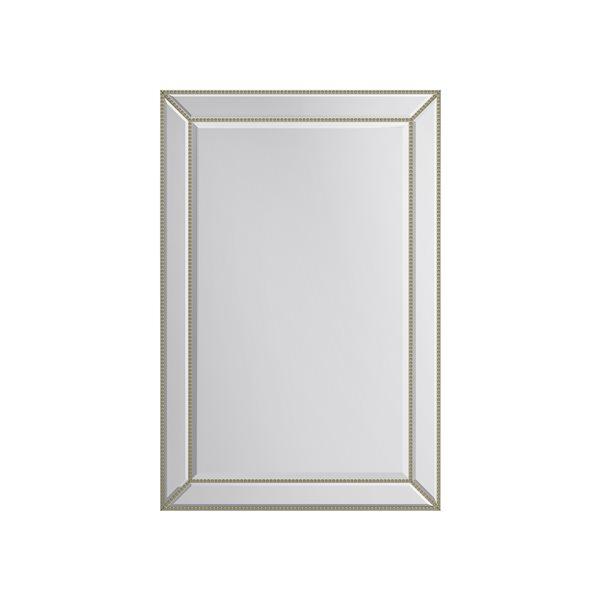 A&E Bath and Shower Gail 24-in Gold Rectangular Bathroom Mirror