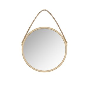 A&E Bath and Shower Bolan 23.62-in L x 23.62-in W Round Gold Framed Wall Mirror