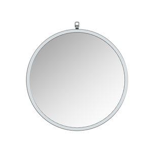 A&E Bath and Shower Haylo 24-in Silver Round Bathroom Mirror