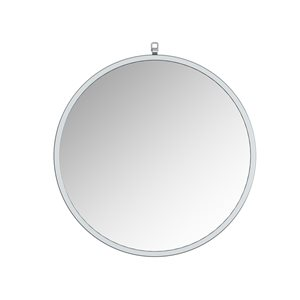 A&E Bath and Shower Haylo 28-in Silver Round Bathroom Mirror