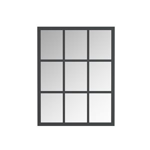 A&E Bath and Shower Trion 28-in L x 26-in W Rectangular Black Framed Wall Mirror
