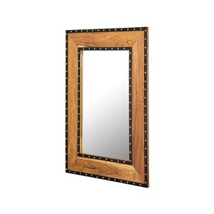 A&E Bath and Shower Roselle 38-in L x 28-in W Rectangular Wood Finish Framed Wall Mirror