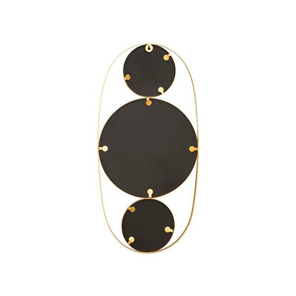 Miroir décoratif avec cadre Mora par A&E Bath and Shower, 32,25 po L x 14,75po l, doré