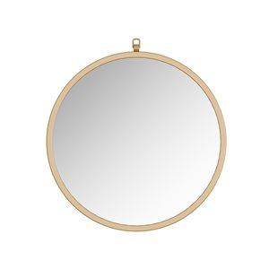 A&E Bath and Shower Haylo 24-in Gold Round Bathroom Mirror