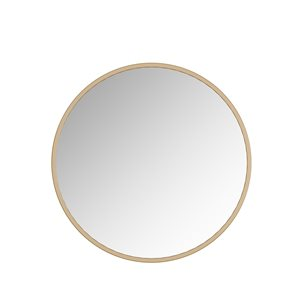 A&E Bath and Shower Halcyon 36-in Gold Round Bathroom Mirror