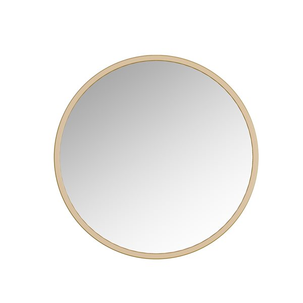 A&E Bath and Shower Halcyon 28-in Gold Round Bathroom Mirror