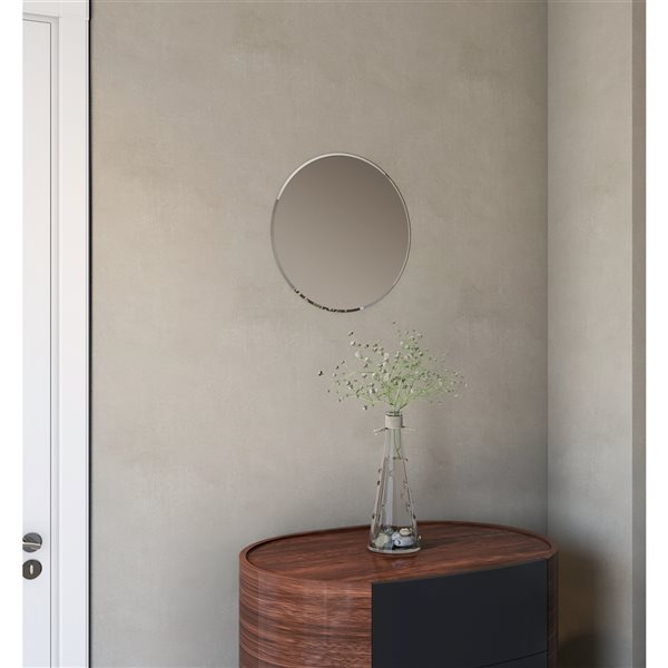 A&E Bath and Shower Cairo 18-in Round Frameless Bathroom Mirror