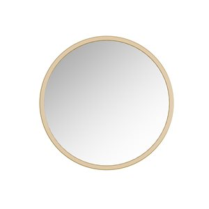 A&E Bath and Shower Halcyon 24-in Gold Round Bathroom Mirror