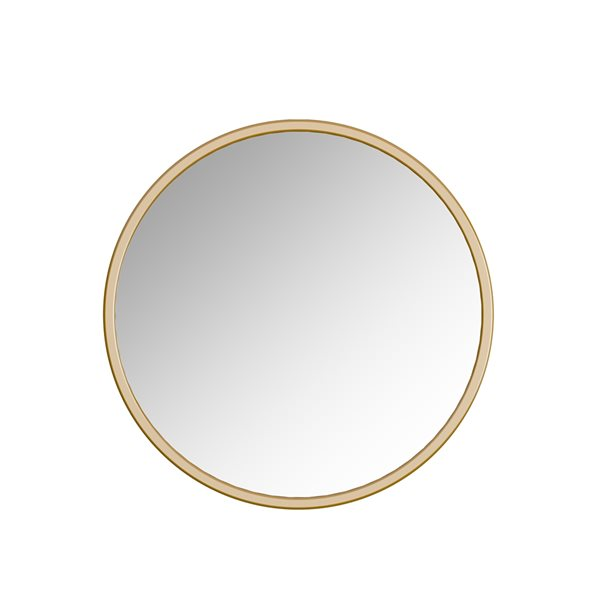 A&E Bath and Shower Halcyon 32-in Gold Round Bathroom Mirror