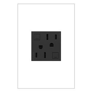 Prise de courant gris graphite DDFT résidentielle décorative inviolable adorne par Legrand de 15 A