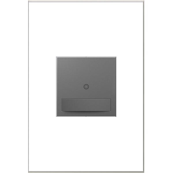 Interrupteur illuminé sans contact adorne par Legrand unipolaire et à 3 voies, magnésium de 15 A