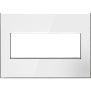 Plaque murale à 3 prises adorne par Legrand, blanc/blanc sans vis, miroir