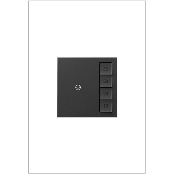 Interrupteur illuminé sans contact adorne par Legrand unipolaire et à 3 voies, de 15 A graphite