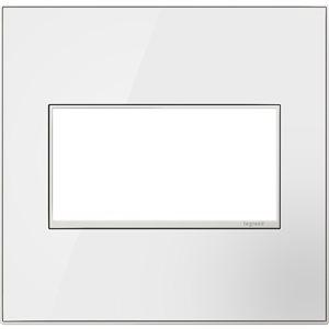 Plaque murale à 2 prises adorne par Legrand, miroir blanc