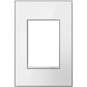 Plaque murale unique adorne par Legrand, miroir, blanc/blanc, sans vis