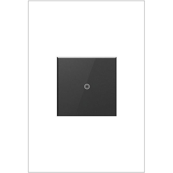 Interrupteur illuminé à effleurement adorne par Legrand unipolaire et à 3 voies, graphite de 15 A