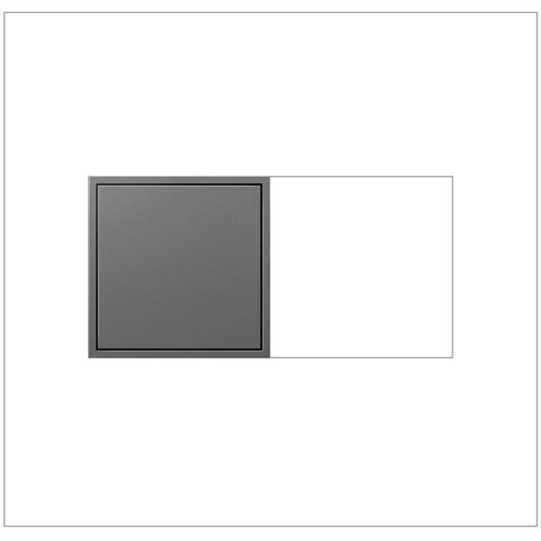 Prise de courant gris magnésium Pop-Out à 2 postes résidentielle décorative inviolable adorne par Legrand de 15 A