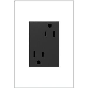 Grande prise de courant gris graphite résidentielle décorative inviolable adorne par Legrand de 15 A
