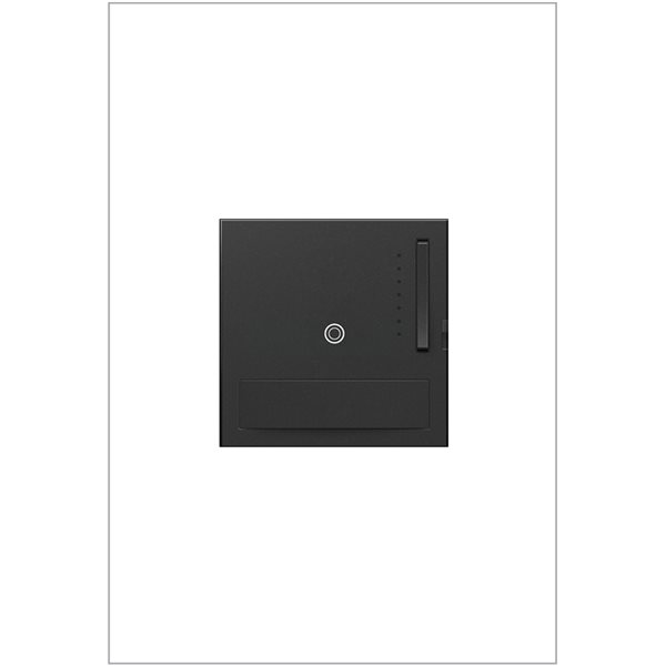 Gradateur de lumière Sensa adorne de Legrand unipolaire et à 3 voies, gris graphite