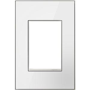 Plaque murale à 1 prise adorne par Legrand, miroir blanc