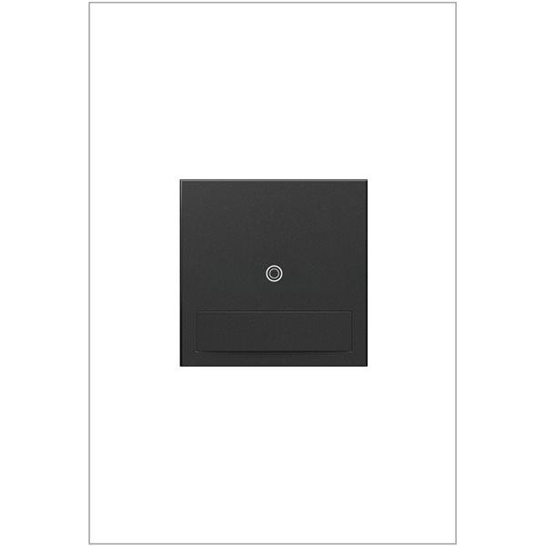 Interrupteur illuminé sans contact adorne par Legrand unipolaire et à 3 voies, graphite de 15-20 A