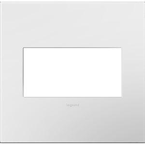 Plaque murale à 2 prises adorne par Legrand, blanc brillant/blanc, sans vis