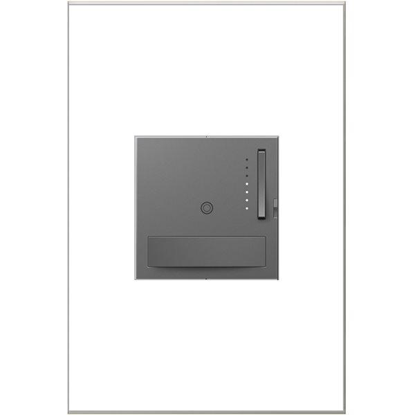 Gradateur de lumière Sensa adorne de Legrand unipolaire et à 3 voies, gris magnésium