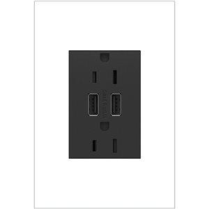 Prise de courant gris graphite résidentielle inviolable adorne par Legrand de 15 A