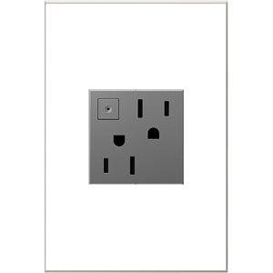 Prise de courant gris magnésium à économie d'énergie résidentielle décorative inviolable adorne par Legrand de 15 A