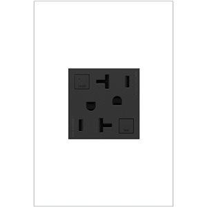 Prise de courant gris graphite DDFT résidentielle carrée inviolable adorne par Legrand de 15 A