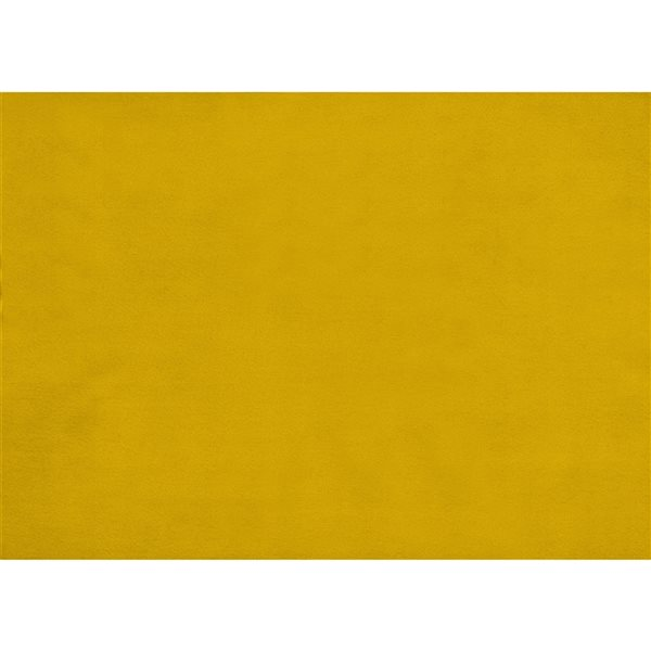 HomeTrend Tolley Modern Yellow Velvet Square Ottoman