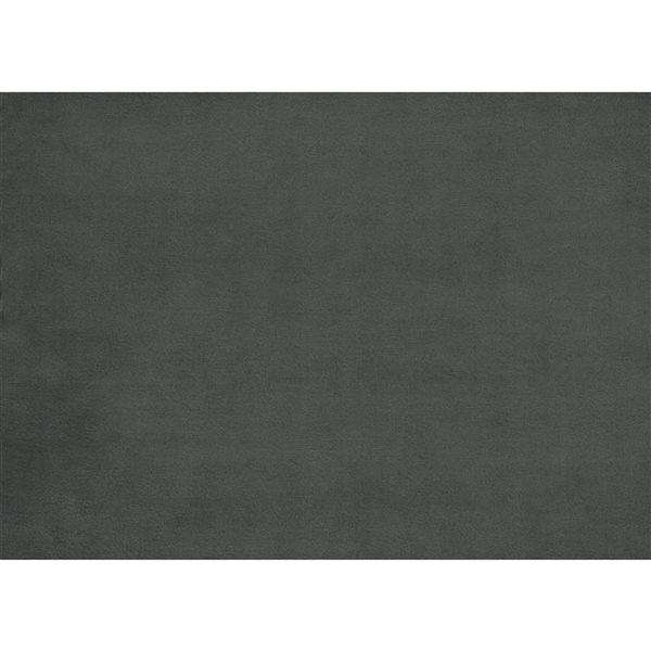Pouf moderne en velours gris Tolley par HomeTrend de forme carrée
