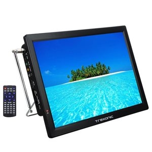 Trexonic 14-in Portable and Rechargeable LED TV with 1080p