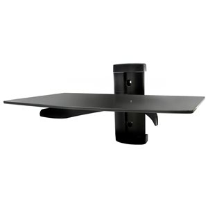 MegaMounts Fixed Black Wall TV Mount for TVs up to 46-in (Hardware Included)