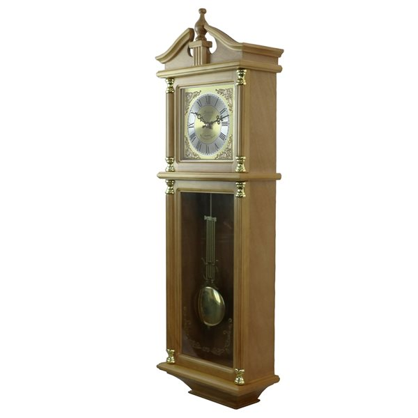 Bedford Clock Collection 34.5-in Analog Rectangle Wall Grandfather Clock