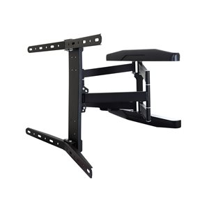 MegaMounts Full Motion Black Wall TV Mount for TVs up to 70-in (Hardware Included)
