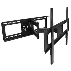 MegaMounts Wall TV Mount Full Motion for TVs up to 70-in (Hardware Included)