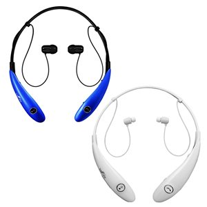 Befree Sound Blue/White Earbud Headphones with Microphone - 2-Pack