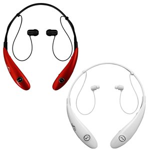 Befree Sound Red/White Earbud Noise Canceling Headphones with Microphone - 2-Pack