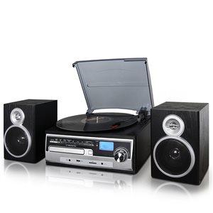 Trexonic 3-Speed Turntable with CD Player, FM Radio, Bluetooth, USB/SD Recording