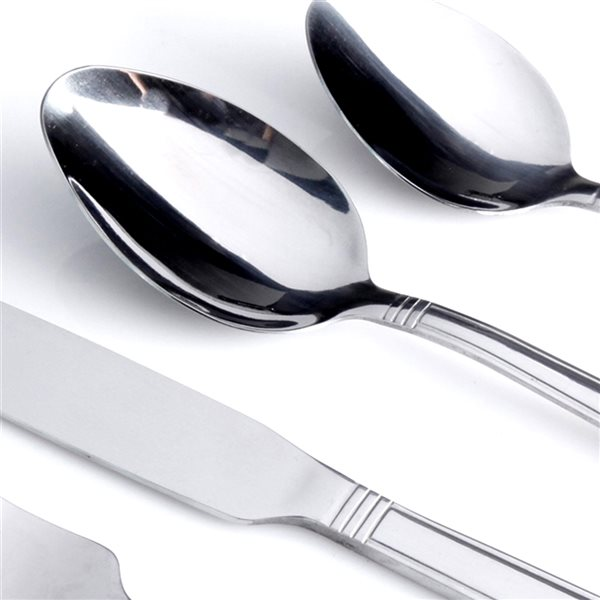Gibson Home Hartsel Stainless Steel Traditional Flatware Set - 20-Pack